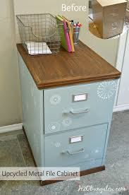 how to restore metal cabinets wood trimmed filing cabinet makeover h2obungalow