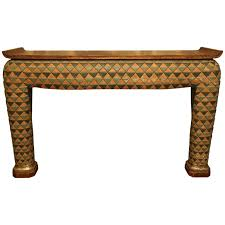 asian style sofa table unusual asian style polychrome plaster console table for sale at 1stdibs