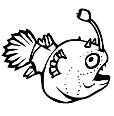funny monster fish coloring pages color luna
