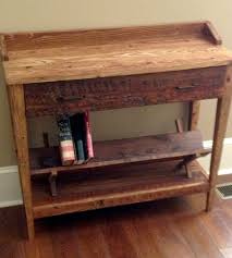 reclaimed wood entry table reclaimed wood entry table home furniture the rusted nail
