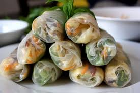where to buy rice paper wraps basil mint sliced carrots baby spinach butterflied shrimp and a