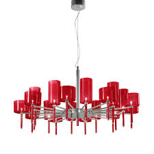 red ceiling light adding elegance and vintage look your room