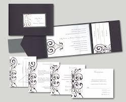 Pocket Invitations Pocket Wedding Invitations 7 Stately Scrolls Pocket Wedding