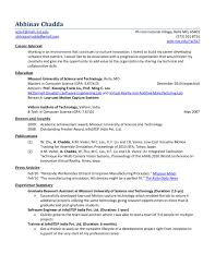 Mba Fresher Resume Sample by Format Resume Chemical Engineering