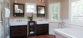 hip before and after bathroom renovation ideas with dark vanity