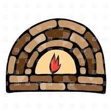symbolic stone fireplace vector clipart image 16212 u2013 rfclipart