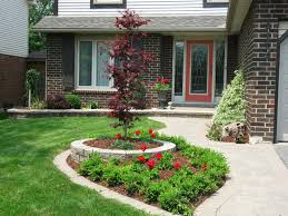 landscaping cheap and easy flower bed ideas for big gardens
