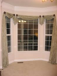 Window Scarves For Large Windows Inspiration Bay Window Design Creativity Window Scarves And Room