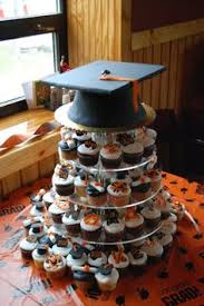 graduation centerpieces ideas made this black and red cupcake