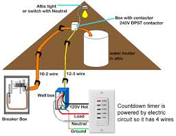 how to wire water heater with switches timers countdown timer is powered by the circuit so neutral wire is required 10 20 minutes to wash up 20 30 minutes to shower 40 60 minutes for bath