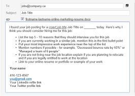 best formats for sending job search emails letter format sample