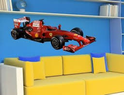chambre enfant formule 1 wall stickers formula 1 racing car bedroom childrens