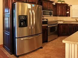 mini fridge and microwave cabinet