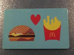 mcdonalds gift card discount 2015 mcdonald s burger and fries collectors gift card no