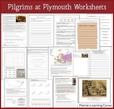 pilgrims at plymouth worksheets mamas learning corner
