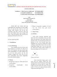cara membuat laporan praktikum elektronika laporan dioda dan led