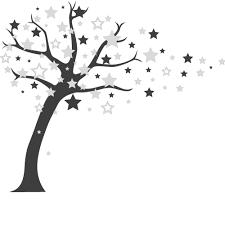wandtattoo sternenbaum baum mit sternen fürs kinderzimmer von