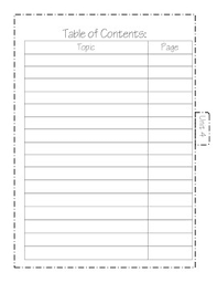 interactive notebook table of contents by math de mystified tpt