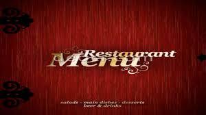 restaurant menu design psd file youtube