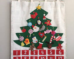 advent calendar christmas tree advent calendar felt with ornaments christmas
