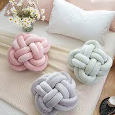 vivid knot ball cushion office waist back cushion baby nap pillow
