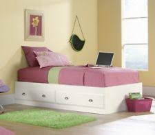 twin bed with drawers and bookcase headboard f9223 white kids girls bookcase twin bed storage trundle drawers ebay