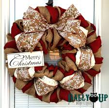 100 burlap christmas wreath 16 decorative red and green