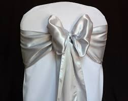 silver chair sashes 16 sashes for chairs hobbylobbys info