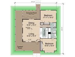 Floor Plans With Wrap Around Porch by Hip Cottage With Wrap Around Porch 1423 Sf Southern Cottages