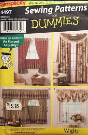 Valances Window Treatments Patterns Simplicity 4497 Pattern Sewing For Dummies Curtains Valance Swag
