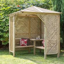Lattice Pergola Roof by Grange Softwood Corner Lattice Arbour Departments Diy At B U0026q
