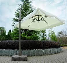Tilting Patio Umbrella by Aosom Outsunny 10 U0027 Tilting Patio Umbrella W Base Cream