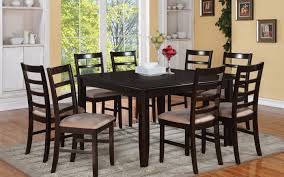 dining table set chairs black room and white solid oak amazing