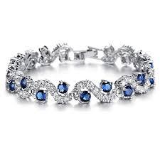bracelet jewelry tennis images Feraco blue tennis bracelet women cubic zirconia jpg
