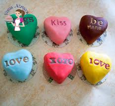 conversation hearts conversation heart cakes tutorial veena azmanov