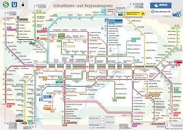 Map Of Munich Germany by Munich U0027s Metro Map Schnellbahn Und Regionalzugnetz 2013
