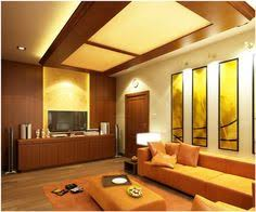 Modern Ceiling Design For Living Room by White False Pop Ceiling Design And Brown Sofa Set Design In Living