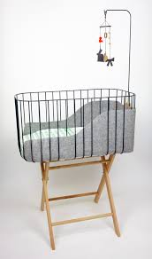 baby crib charcoal grey with light grey felt fun green and timeless