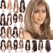 cute effortless long layered haircuts full wig with bangs straight