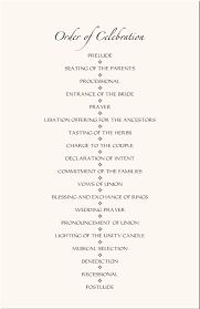 wedding ceremony program templates american wedding programs adinkra wedding program wording