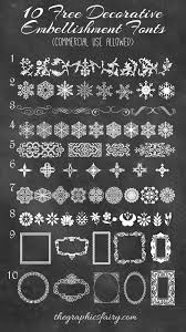 10 best decorative embellishment fonts commercial use dingbats