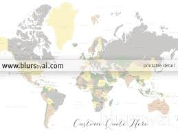 World Map With States by Custom Quote World Map With Countries Us States Canadian