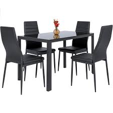 Glass Dining Table And 4 Chairs by Table Sets