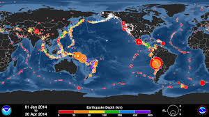 Earthquake Map Usgs Global Earthquake Animation January April 2014 Youtube
