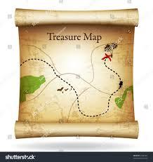 Treasure Map Blank by Treasure Map Vector Stock Vector 49342441 Shutterstock