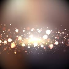 Gold Lights Bokeh Background With Golden Lights Vector Free Download