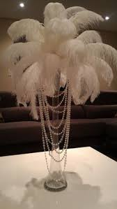 Wedding Feathers Centerpieces by Great Gatsby Themed Party Centerpiece By Elana K Weddings In