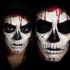 Skeleton Face Painting For Halloween by Exposed Skull Makeup Tutorial Youtube