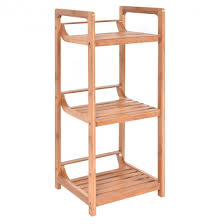 Bamboo Bathroom Accessories by 3 Tier Bamboo Bathroom Storage Rack Towel Racks U0026 Holders
