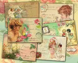 vintage cards digital cards vintage children greeting cards printable